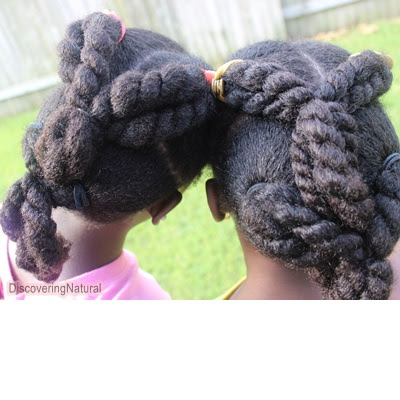 Natural Hair Kids Hairstyle Chunky Twists