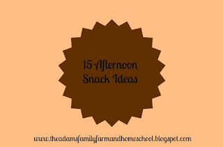 15 Afternoon Snack Ideas