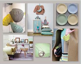 New pastels, retro pastels, mid-century pastels,