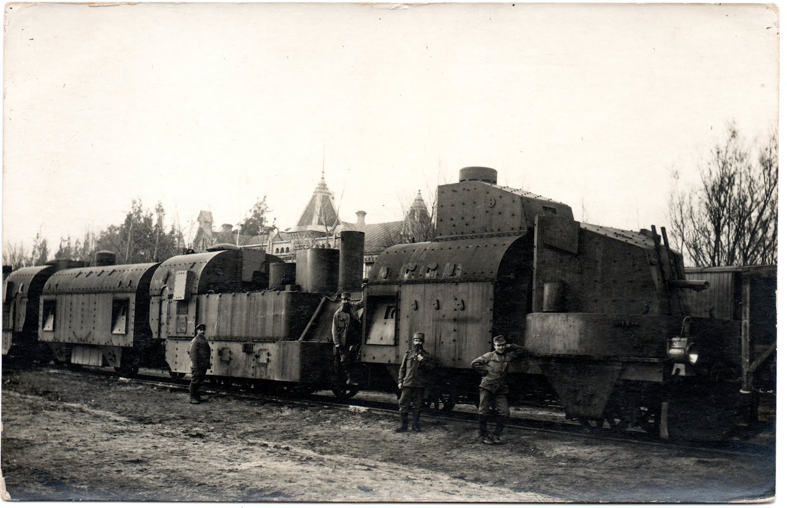 Great War Postcards  Armored Train