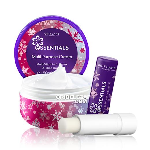 Creme Multiusos e Bálsamo de Lábios Essentials