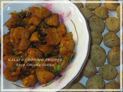 Soya Chunks Sukka | Meal Maker Sukka | சோயா துகள்கள் சுக்கா