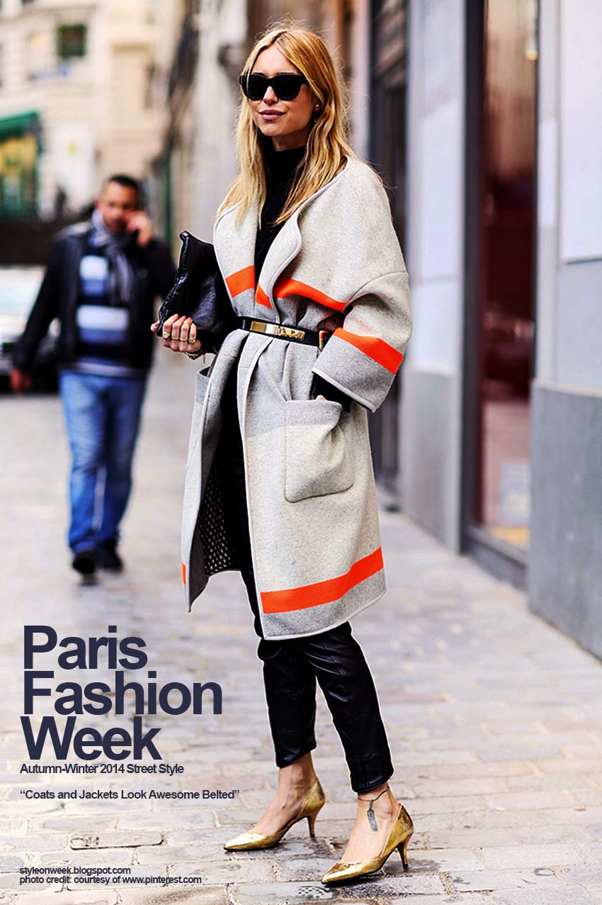 Paris Fashion Week Autumn-Winter 2014 Street Style - Coats and Jackets Look Awesome Belted