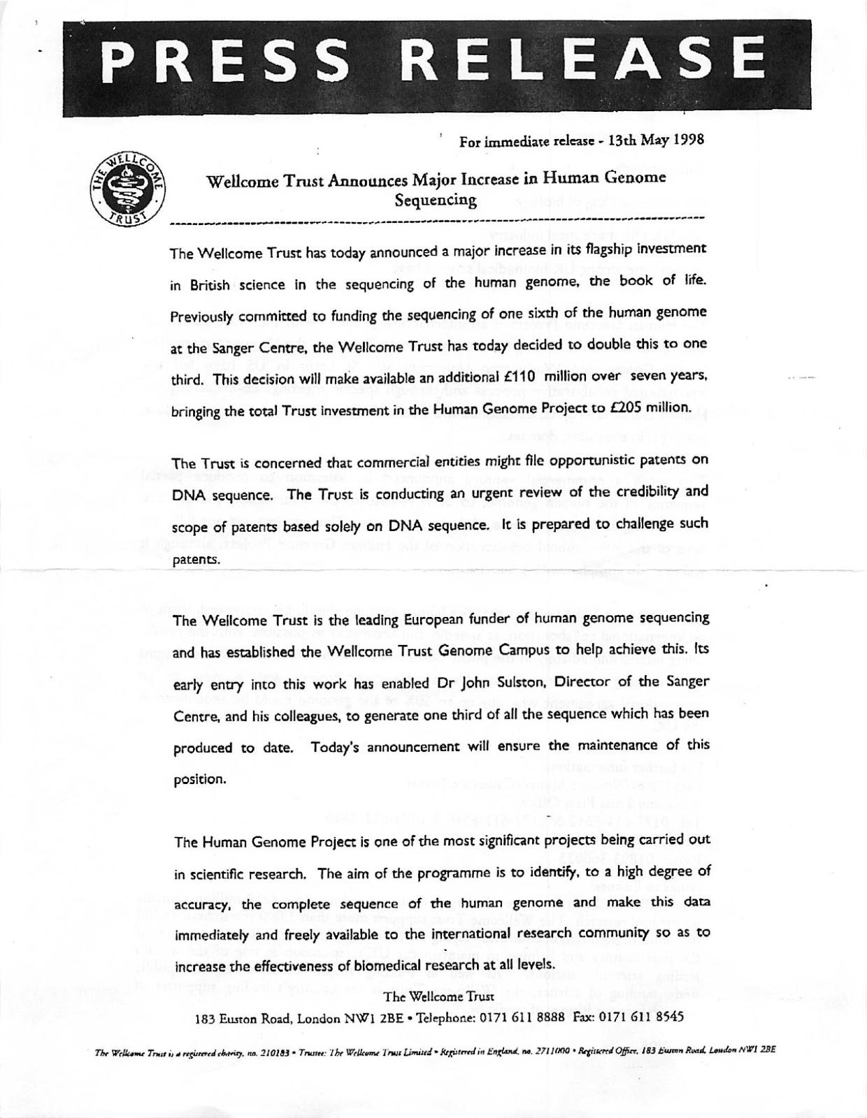 embargoed press release sample