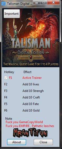 Talisman Digital Edition V1.0.0.1 Trainer +5 MrAntiFun