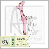 Toy Giraffe Digital Stamp