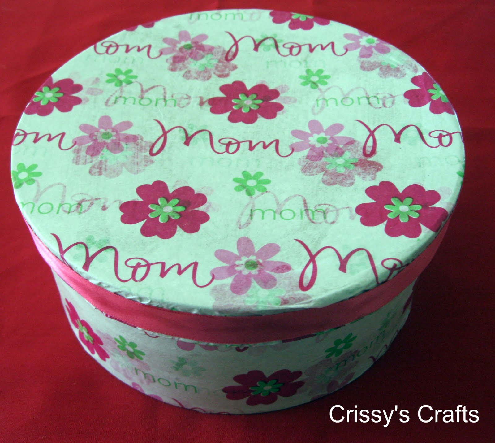Crissys crafts mothers day paper mache box mothers day paper mache box jeuxipadfo Images