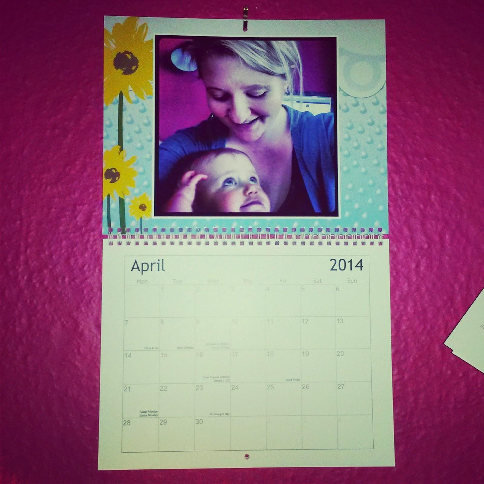 Vistaprint photo calendar review month example