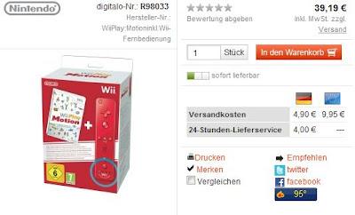 Wii Play: Motion Inkl. Wii Remote Plus bei digitalo für 31,42 Euro (mit Gutschein-Code)