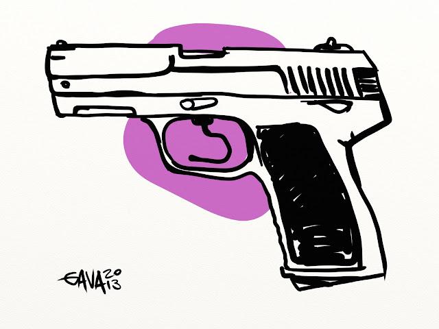 gavavenezia gava satira vignette caricature battuta pistorius gambe pistola paraolimpiadi omicidio ladro viola