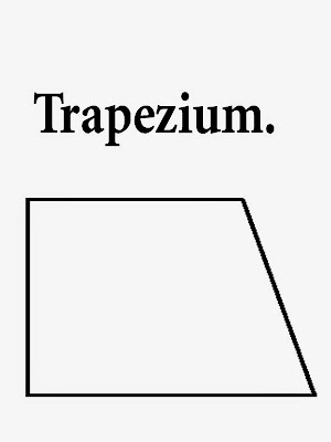 Trapezium printable geometry shape simple art drawing lesson school colouring and words for children