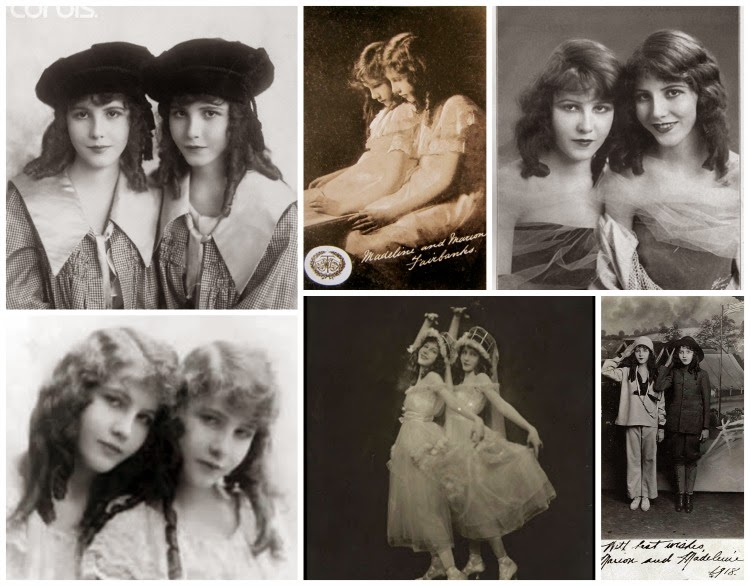 A Vintage Nerd, Old Hollywood Twins, Old Hollywood Blog, Classic Film Blog, Vintage Blog, Old Hollywood History, Madeline and Marion Fairbanks