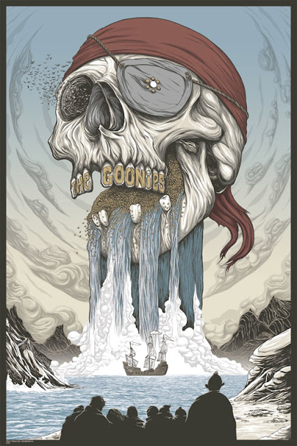 The Goonies Screen Print by Randy Ortiz