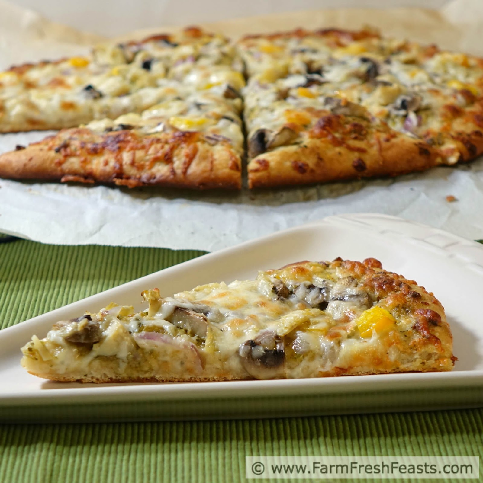 Farm fresh feasts csa recipe index revamped and garlic scape csa recipe index revamped and garlic scape pesto pizza with mushroom artichoke pepper and red onion forumfinder Choice Image