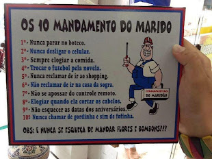 Os Dez Mandamentos do Marido