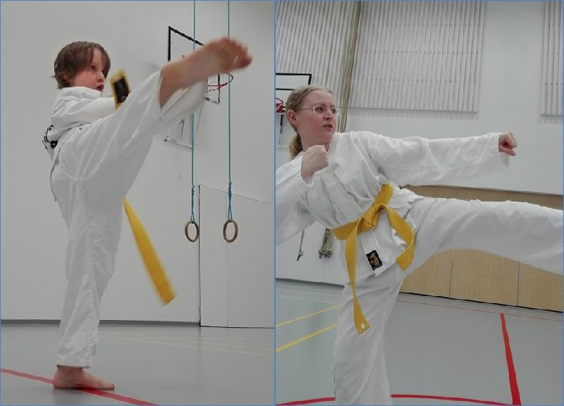Taekwondossa potkut korostuvat
