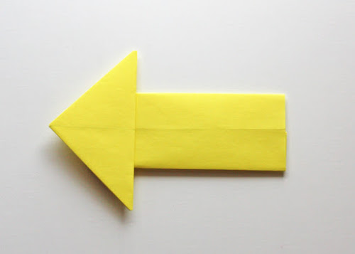 Origami arrow instructions