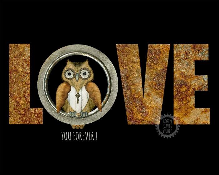 Love Owl print - Robin Davis Studio