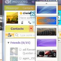 Cara Ganti Tema KASKUS YM, Ganti Tema KASKUS Yahoo Messenger