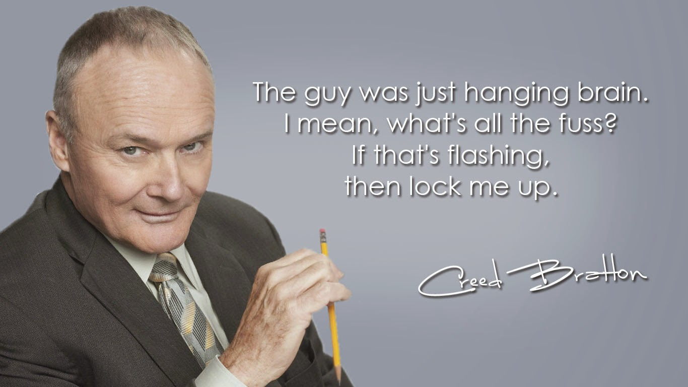 flashing creed bratton wallpaper the office backgrounds office wallpapers