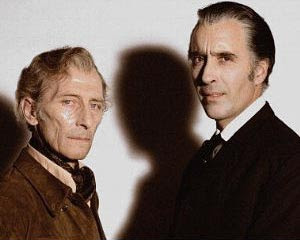 Peter Cushing e Christopher Lee, foto