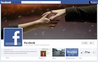 blue facebook website