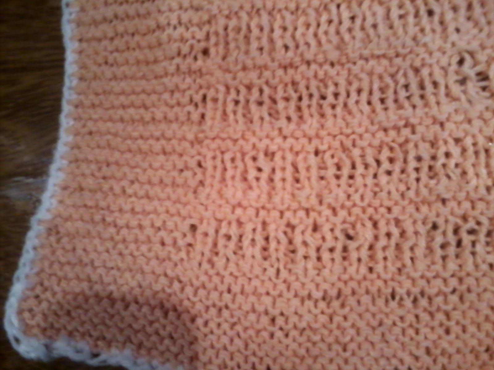 El atelier del tejido patron manta facil de bebe - Dibujos de ganchillo ...