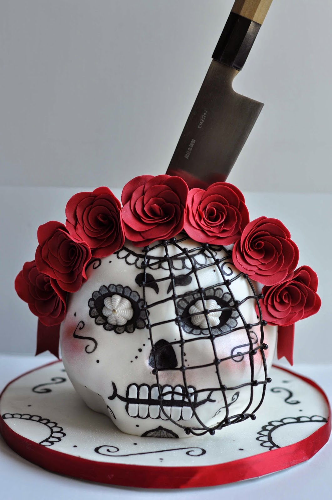 Backen Baking Cake Design Torten dekorieren Decorating Sculpted Cake Geformte Kuchen Day of the Dead Skull Schädel Tag der Toten Mexico
