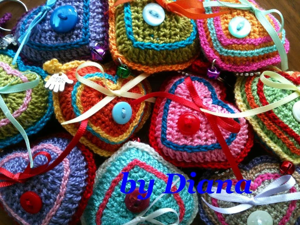 Diana es crochet: Llavero de corazón en crochet