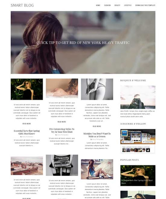 Smart Blog Free Blogger Templates ( Simple Blogger Templates)
