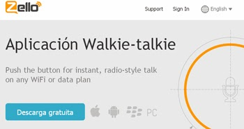 Utiliza un Walkie Talkie en tu teléfono con Zello