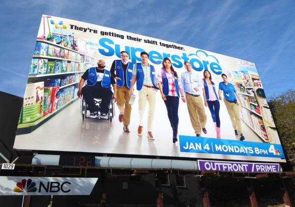 Superstore series premiere billboard