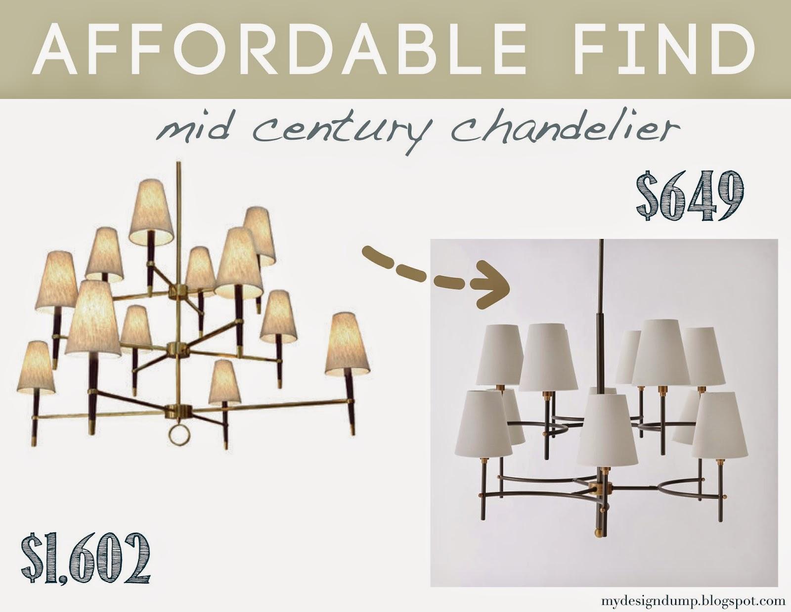 design dump affordable find 12 light mid century chandelier