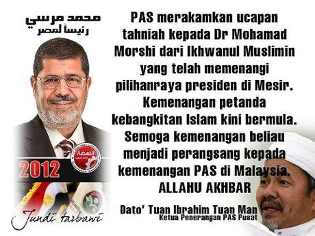 """Pas meroyan bila """"dacing"""" menang p/raya Presiden Mesir"""