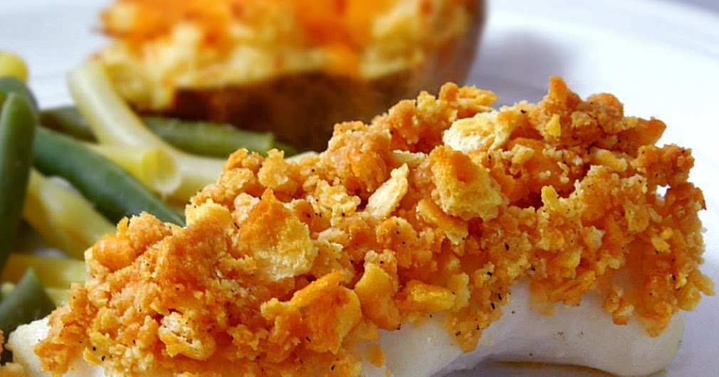 Baked Cod with Peppery Ritz Cracker Topping