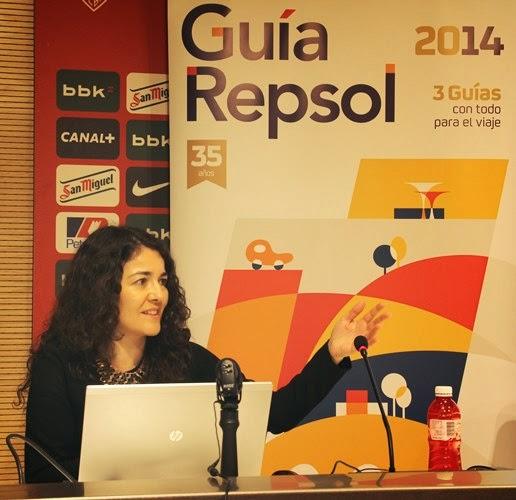 Cristina Fernández durante su conferencia.