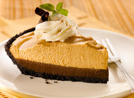 Dying for Chocolate: Double Layer Chocolate Pumpkin Mousse Pie ...
