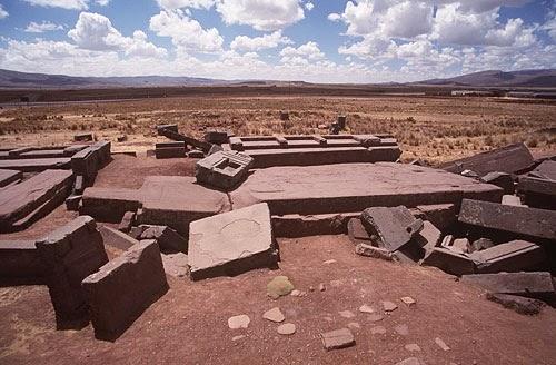 Ruinas de Puma Punku, Tihuanaco, Bolivia