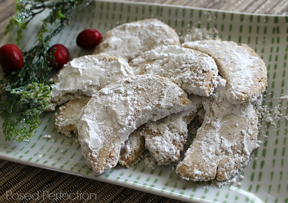 Posed Perfection: Almond Crescent Cookies ~ A Secret Family Recipe
