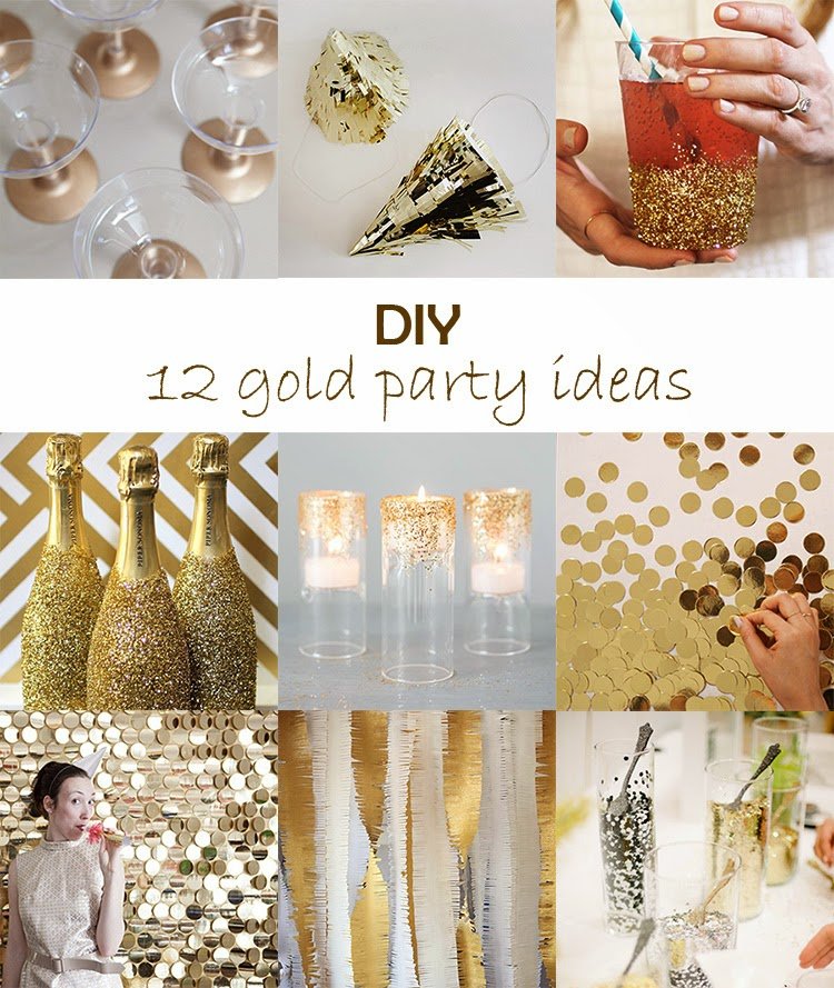 DIY Monday # Gold party ideas