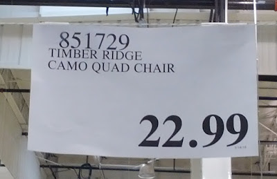 Deal for the Timber Ridge Camo Quad Chair at Costco