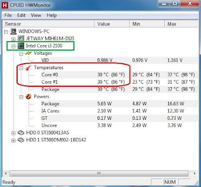 HWmonitor para medir la temperatura del CPU o micro