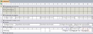 vista diseño de informes