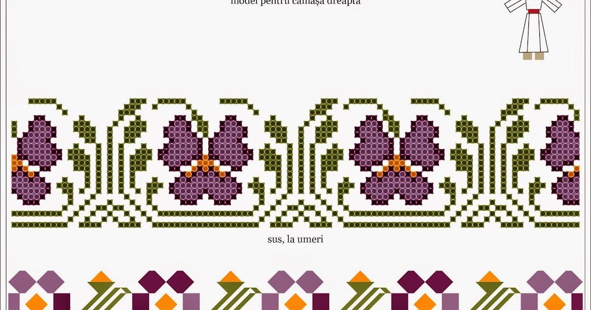 Semne Cusute Romanian Traditional Motifs Muntenia Teleorman