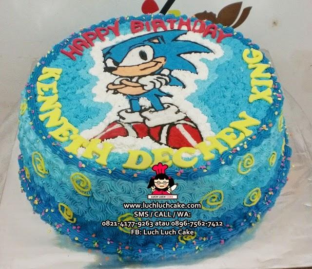 Kue Tart Sonic the Hangedog Daerah Surabaya - Sidoarjo