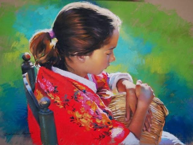 pinturas-realistas-de-niños
