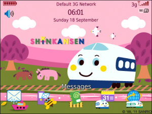 Tema Blackberry Kartun Shinkansen Countryside