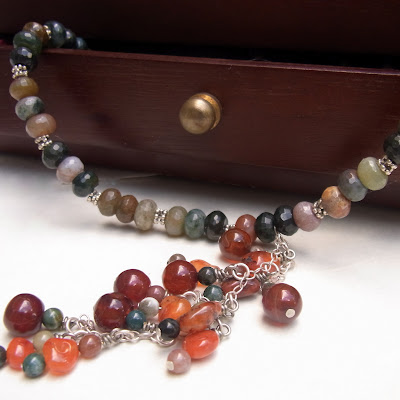 indian agate necklace by akvjewelry