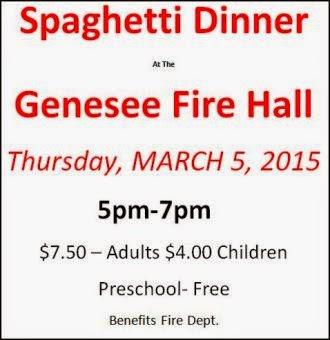 3-5 Spaghetti Dinner, Genesee