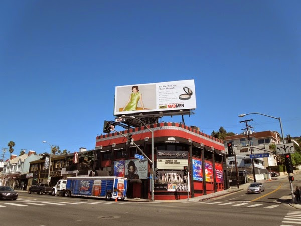 Mad Men Peggy vintage Emmy 2014 billboard Sunset Strip